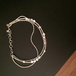 Lucky Brand Silver Choker Necklace